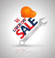Labor day SALE poster vector image
