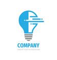 lightbulb concept logo template design electric vector image vector image
