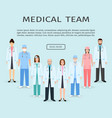 medical team group of flat men and women doctors vector image vector image