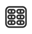 medicine and pills in pack line style icon vector image