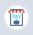 mobile application online shop pay button shopping vector image
