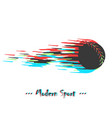 modern baseball ball in motion with glitch vector image vector image