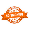 no smoking ribbon no smoking round orange sign no vector image vector image