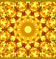 orange seamless abstract triangle mosaic vector image vector image