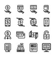 payment method icon set vector image