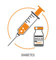plastic medical syringe and vial icon vector image vector image