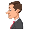 Profile of a businessman vector image