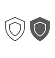 protection line and glyph icon safety security vector image vector image
