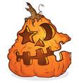 pumpkin jackolantern cartoon character vector image vector image