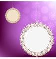 Purple lace ornament card EPS8