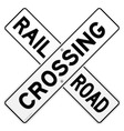 Railroad Traffic Sign vector image