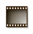 realistic retro frame 35 mm filmstrip vector image