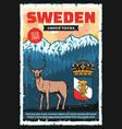 scandinavia travel adventure sweden city tours vector image vector image