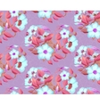 seamless background of watercolor flowers vector image