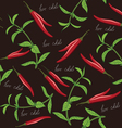 Seamless chili and oregano texture vector image vector image