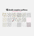 seamless patterns collection backdrop vector image