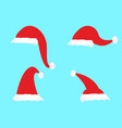 simple cartoon christmas hat icons vector image vector image