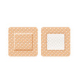 square-shaped band aid vector image vector image
