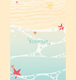 starfish and sea shell on summer beach background vector image
