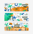 summer festival banner templates set open vector image vector image