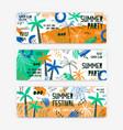 summer festival banner templates set open vector image