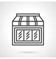 Toys shop showcase simple line icon vector image vector image