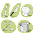 vector set of kitchenware vector image