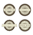 vintage badges set collection of premium design vector image