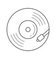 vinyl turntable line icon vector image vector image