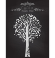Chalk music tree on blackboard background vector image