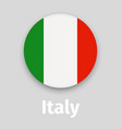 italy flag round icon with shadow vector image