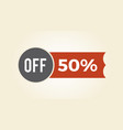 50 off sale clearance icon vector image vector image