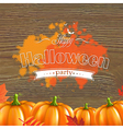 Autumn Leafs And Pumpkins Frame vector image vector image