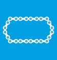 bicycle chain icon white vector image vector image