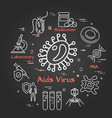 black concept bacteria and viruses vector image vector image