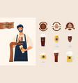 brewery craft beer pub concept vector image vector image