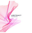 bright poster with dynamic waves modern vector image vector image