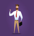 businessman is showing a gesture okay vector image