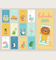 calendar 2020 cute monthly calendar with beach vector image