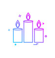 candles icon design vector image vector image