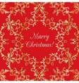 Christmas Greeting card with snowflake red vector image vector image