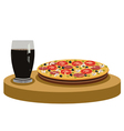 Cola and delicious pizza vector image