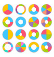 colorful pie charts infographic set vector image vector image