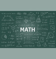 doodle math blackboard mathematical theory vector image