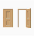 doors closed and open vector image vector image