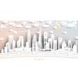 dubai uae city skyline in paper cut style vector image vector image