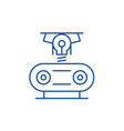 electrogeneration line icon concept vector image vector image