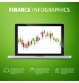 finance infographics vector image vector image