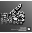 Finance thumbs up vector image vector image