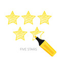 five stars rating poster with headline vector image vector image